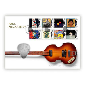 UK 2021 Paul McCartney Music Giants 8 Stamps & Medal First Day Cover - PNC
