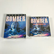 FIGHTER BOMBER & ADVANCED MISSION Games - Commodore Amiga - FACTORY SEALED / NOS
