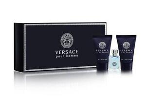 Versace Pour Homme Mini set 5ml EDT 25ml Shower Gel 25ml Aftershave Balm