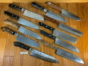 Damaged Lot of Japanese Chef's Kitchen Knives hocho set from Japan UK463