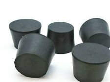1 14 Solid Black Rubber Stoppers Tapered Plug Bung Plug Various Pack Sizes