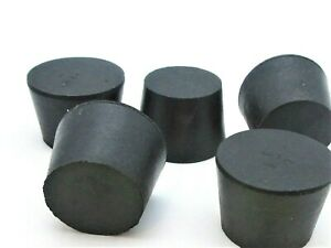 """1 1/4"""" Solid Black Rubber Stoppers  Tapered Plug  Bung Plug Various Pack Sizes"""