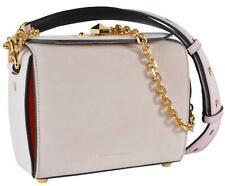 New Alexander McQueen 479766 $2,090 Suede Colorblock Box 19 Crossbody Purse Bag