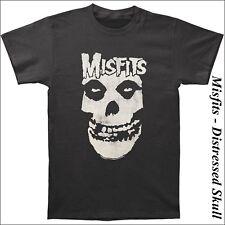 The Misfits - Distressed Skull (slim flit),T-Shirt, Größe: 2XL / XXL - *K*U*L*T