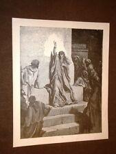 Incisione di Gustave Dorè del 1880 Bibbia Debora Bible Engraving