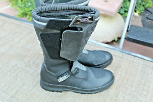 GAERNE LEATHER  BLACK MOTORCYCLE BOOTS SZ 12 MADE IN ITALY EUC