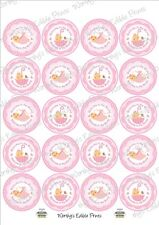 New Baby Girl, Welcome To The World Cupcake Toppers Edible Icing 20 X 5cm