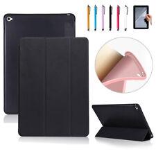 For iPad Mini 2 3 4 Air 2 Pro 9.7 PU Leather w/Soft TPU Back Case Smart Cover FF