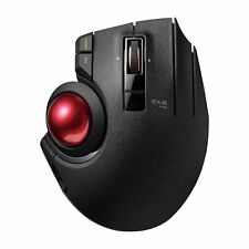 ELECOM M-XPT1MRXBK Trackball Mouse 8 Button Wired/Wireless/Bluetooth 3Way Gaming
