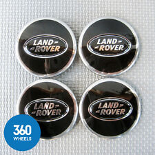4 NEW GENUINE LAND ROVER ALLOY WHEEL CENTRE CAPS BLACK RANGE LR044717