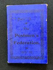 More details for vintage postmen's federation membership booklet / card 1915-16, banbridge branch