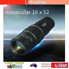 Monocular 16x52 Powerful Prism Binoculars Telescope Camping Outdoor W Pouch
