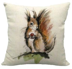 Kissenhülle Kissenbezug Motivkissen Eichhörnchen Canvas-Stoff