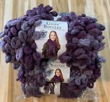 6 Skeins Loops & Threads Loops Yarn- Aubergine