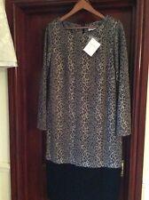 BNWT RRP £60 Gray & Osbourn Size 16 Animal Print Jersey Shift Dress
