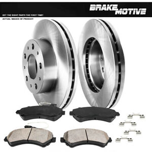 Front Brake Rotors Ceramic Pads For 2014 - 2017 Ram Promaster 1500 2500 3500