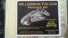 Paragrafix Millennium Falcon Photoetch Set For Fine Mold Kit Sw6 # Pgx 180 F/S