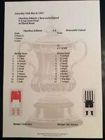 1946-47 Charlton Athletic v Newcastle United FA Cup Semi Final matchsheet