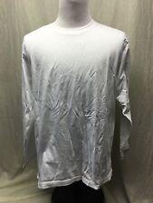Orvis Men's Long Sleeve 100% Cotton White Pullover Size Large -EUC