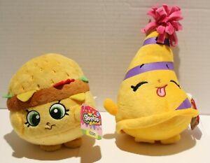 NWT Shopkins Plush Stuffed Toys Banana Apple Cheeseburger - Several Options!!