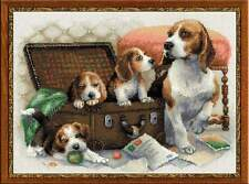 """Counted Cross Stitch Kit RIOLIS - """"Canine Family"""""""