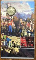 2019 The RUM REBELLION $1 UNC coin on card
