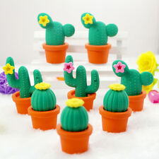 2X Funny Cactus Rubber Pencil Eraser Novelty Student kids Stationery Gift Toy Pq