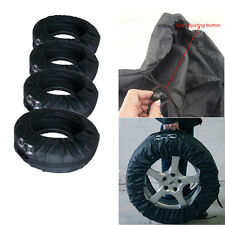 """Set of 4 Tire Storage Protection Cover Carry Tote Bag Car Seasonal Spare 13""""-19"""""""