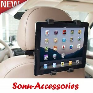 Universal Headrest Back Seat Car Holder Mount for iPad Tablets &  Samsung Tablet