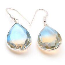 """Size 1.3"""" Jewelry T9145 Ametrine Handmade Silver Plated Earrings"""