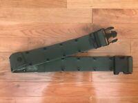 US Military OD Nylon Pistol/Individual Equipment Belt Large 8465-01-322-1966