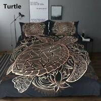 3D Turtle Pattern ZHUA1046 Bed Pillowcases Quilt Duvet Cover Set Queen King Zoe