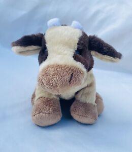 Ganz Webkinz Brown Tan Cream Cow Plush Stuffed No Code