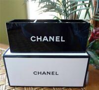 Chanel Black Acrylic Makeup Organiser Vanity Box 3 compartments BRAND NEW