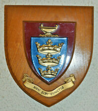 Kingston High School plaque shield coat of arms crest
