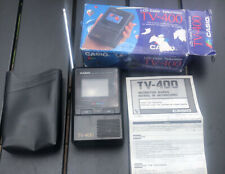 Casio LCD Pocket Color Handheld Portable TV Television VHF UHF TV-400 WITH BOX!