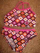 Circo girls size 18 months pink brown tankini Bikini 2 piece Target Orange EUC