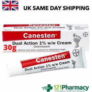 Canesten Dual Action Anti-Fungal Cream - 30g - Treatment Athletes Foot Jock Itch