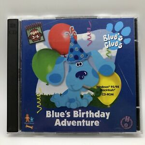 Blue's Clues Blue's Birthday Adventure 2 Disc PC CD-ROM (1998)