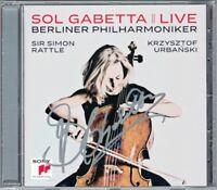 Sol GABETTA Signiert ELGAR MARTINU Cello Concerto Live Simon RATTLE URBANSKI CD