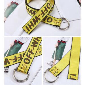 OFF White Belt 150cm 130CM Yellow Strap Nylon Alphabet Vetements Rubchinskiy KUJ