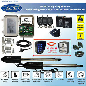 Double Swing Electric Gate Opener Automatic Motor Remote Control Complete Kit