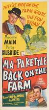 MA AND PA KETTLE AT THE FAIR Movie POSTER 20x40 Marjorie Main Percy Kilbride