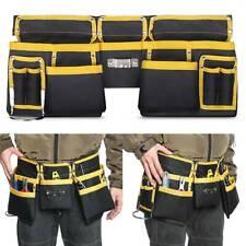 Adjustable Double Tool Bag Belt Nail Kit Pouch Joiner Carpenter Roofing Holster
