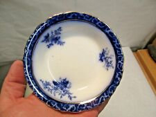 """vintage Flow Blue Touraine Pattern Berry - Sauce Bowl, 5 3/8"""" wide and 1"""" deep"""
