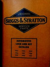 Briggs & Stratton car lock & key manual 1953 - 1961 ILLUSTRATED parts & drawings