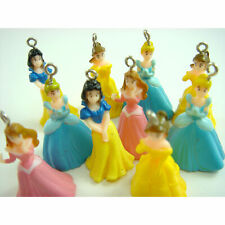 10 pcs Princess Snow White Belle Cinderella Jewelry Making Figures Charm Pendant