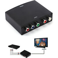 Component Video HD RGB YPBPR to HDMI +L/R Converter Adapter for TV US UK EU Plug