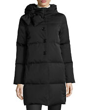 Kate spade New York Funnel-Neck Puffer Coat with Bow in Black Size:M  $698 NWT