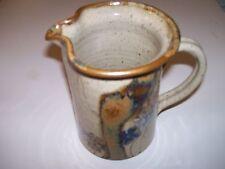 "Vintage Stoneware Pottery Pitcher by Wishon-Harrell,  Muncie, Indiana 6""Hx6""W"